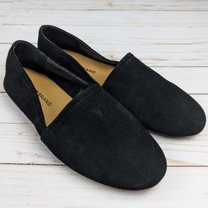 Lucky Brand Brettany NWOT Black Suede Loafer 9